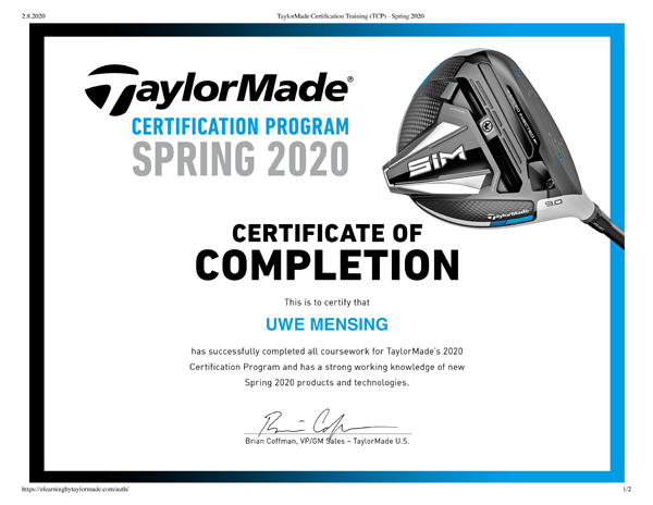 TaylorMade-Certification-Training-Completion