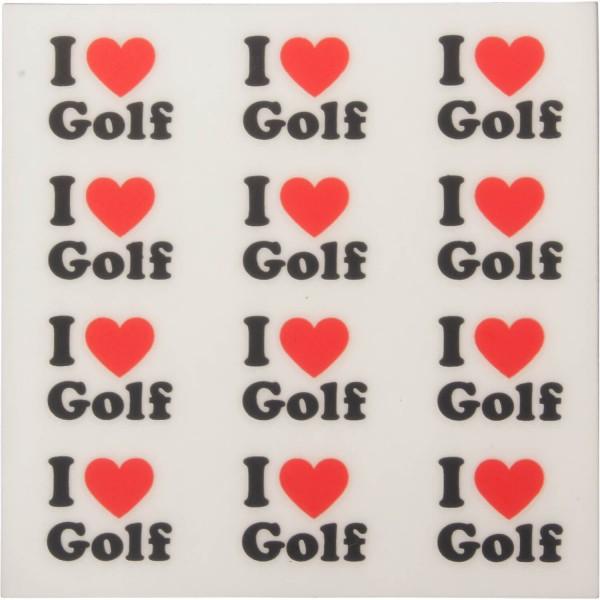 Golfdotz Ball-Tattoo I Love Golf
