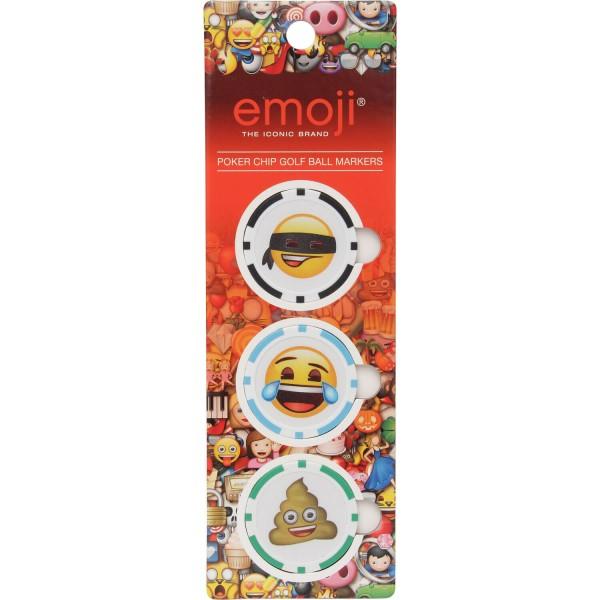 Emoji Ballmarker Pokerchip (3er-Pack)