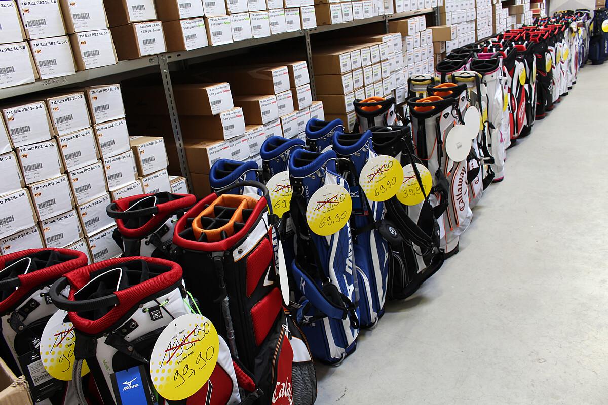 Lagerverkauf Golfbags